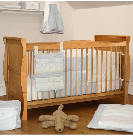 4Baby 3 in 1 Sleigh Cot Bed - Country Pine
