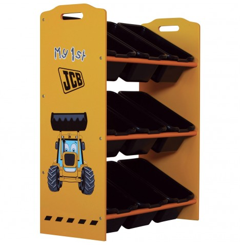 Kidsaw 9 Bin Storage Unit / Toy Organiser - JCB