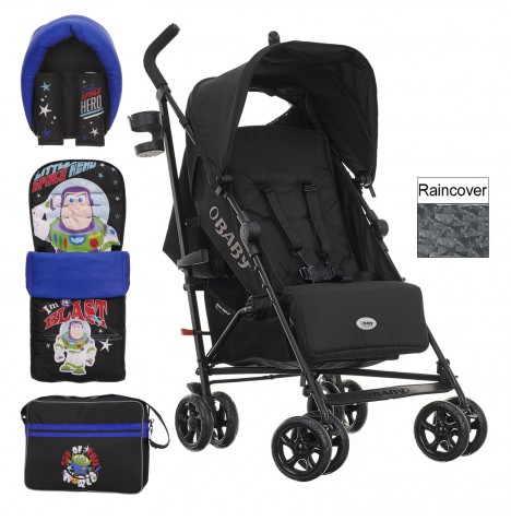 Obaby Disney Zeal Stroller Bundle - Buzz Black