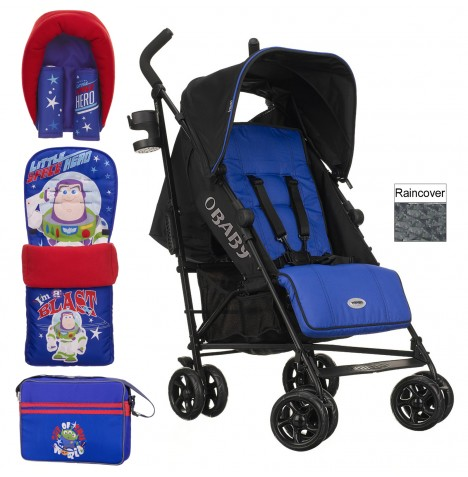 Obaby Disney Zeal Stroller Bundle - Buzz Blue