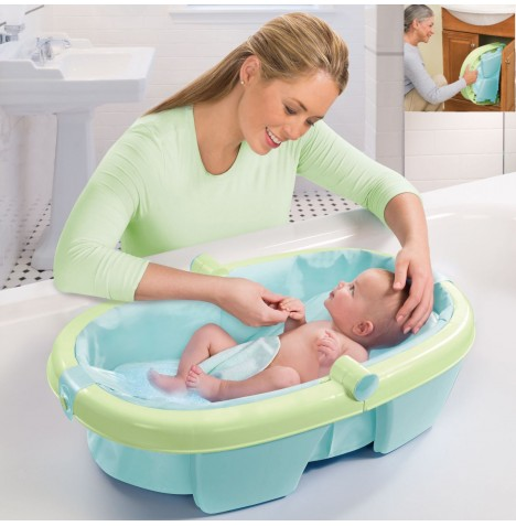 Summer Infant Foldaway Baby Bath - Green