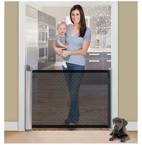 Summer Infant Retractable Safety Gate - Silver Satin / Charcoal