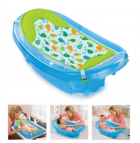 Summer Infant Sparkle 'n Splash Bath Tub - Blue