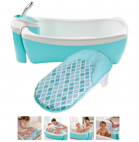 Summer Infant Lil Luxuries Baby Spa Bath Tub - Blue