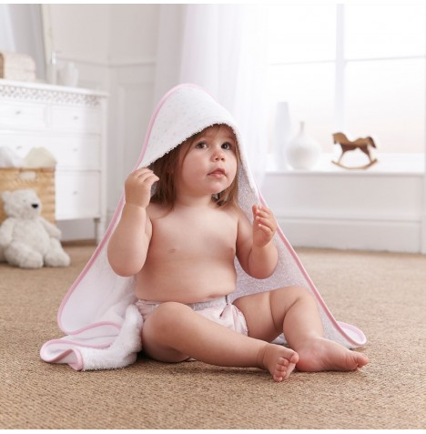 Clair De Lune Luxury Hooded Towel - Star Pink