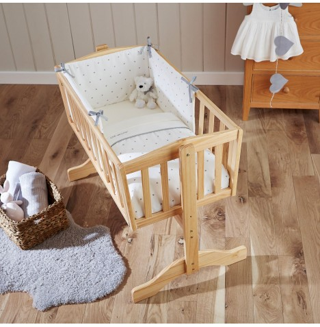 Clair De Lune Rocking Crib Quilt & Bumper Set - Lullaby Hearts