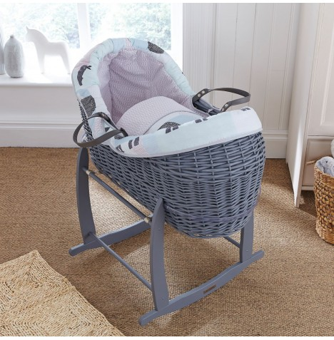 Clair De Lune Grey Wicker Crossover Noah Pod - Stanley & Pip