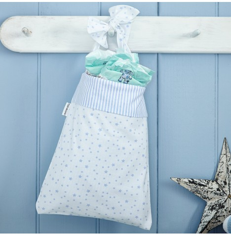 Clair De Lune Cot Pocket - Stars & Stripes Blue