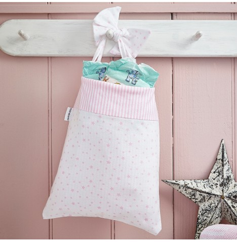 Clair De Lune Cot Pocket - Stars & Stripes Pink