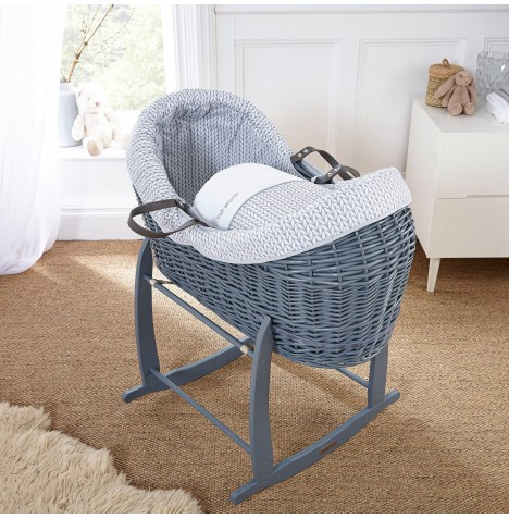 Clair De Lune Grey Wicker Crossover Noah Pod - Barley Bebe Grey