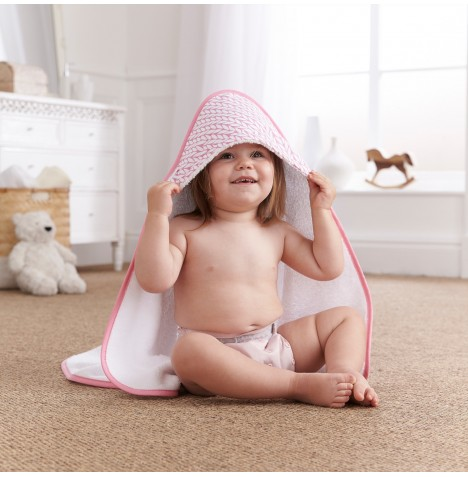 Clair De Lune Luxury Hooded Towel - Barley Bebe Pink