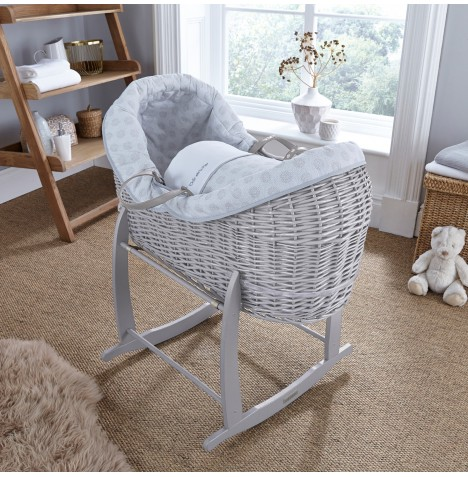 Clair De Lune Grey Wicker Crossover Noah Pod - Speckles Grey
