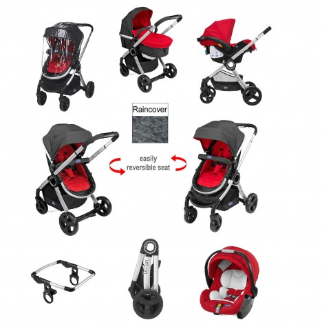 Chicco Urban Travel System Special Edition - Red Wave
