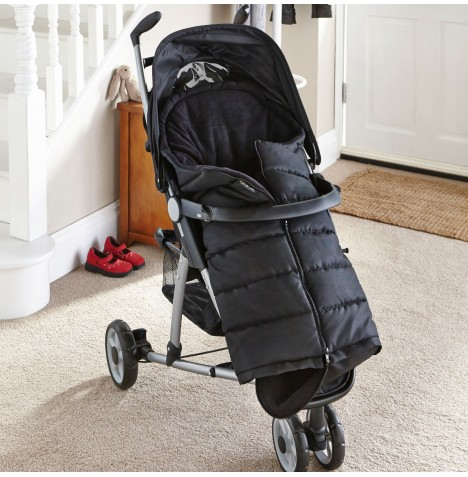 Clair De Lune Cocoon Pushchair Footmuff - Black
