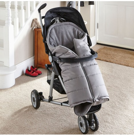 Clair De Lune Cocoon Pushchair Footmuff - Grey