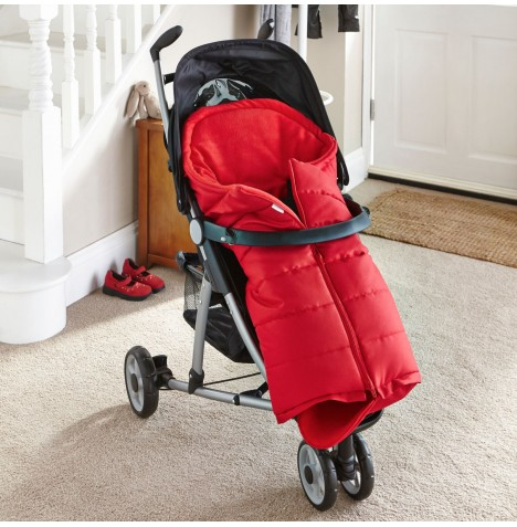 Clair De Lune Cocoon Pushchair Footmuff - Red