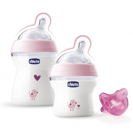 Chicco Natural Feeling Gift Set - Pink
