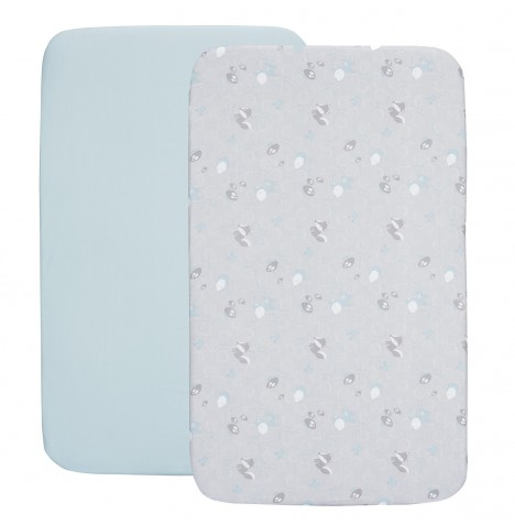 Chicco Next 2 Me / Lullago Crib Fitted Sheet Set - Sky