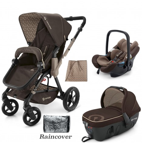 Concord Wanderer Travel Set Travel System - Chocolate Brown