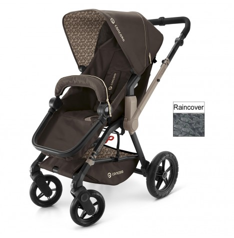 Concord Wanderer Buggy Stroller Pushchair - Chocolate Brown