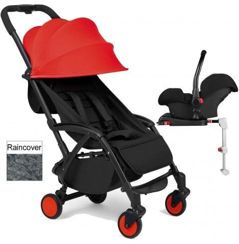 Ickle Bubba Aurora Travel System With Isofix Base - Red
