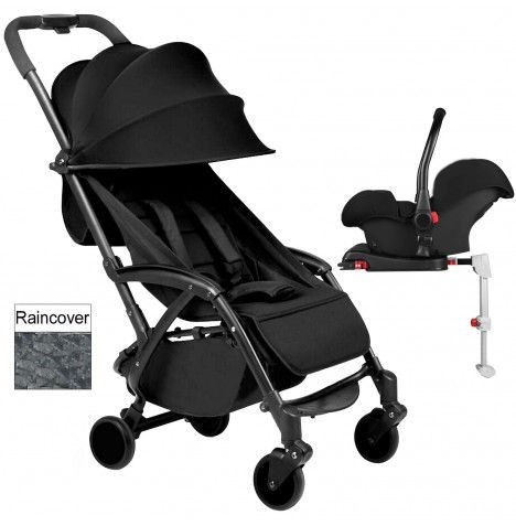 Ickle Bubba Aurora Travel System With Isofix Base - Black