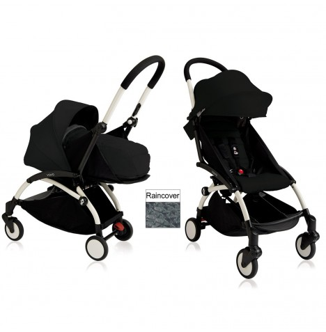 Babyzen YoYo+ 2 in 1 Pram / Pushchair Newborn Complete Package - White / Black