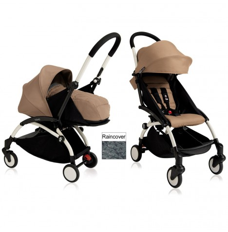 Babyzen YoYo+ 2 in 1 Pram / Pushchair Newborn Complete Package - White / Taupe