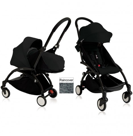 Babyzen YoYo+ 2 in 1 Pram / Pushchair Newborn Complete Package - Black / Black