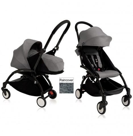 Babyzen YoYo+ 2 in 1 Pram / Pushchair Newborn Complete Package - Black / Grey