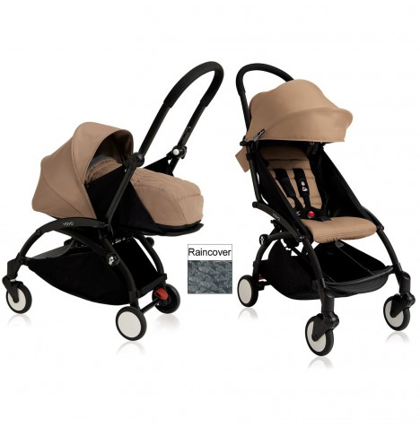 Babyzen YoYo+ 2 in 1 Pram / Pushchair Newborn Complete Package - Black / Taupe