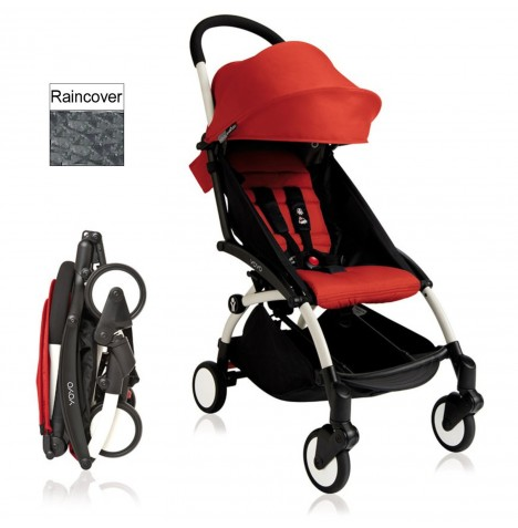 Babyzen YoYo+ Pushchair 6mth+ Package - White / Red