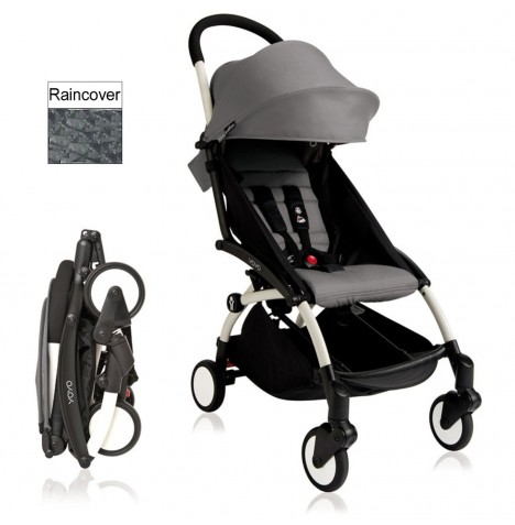 Babyzen YoYo+ Pushchair 6mth+ Package - White / Grey