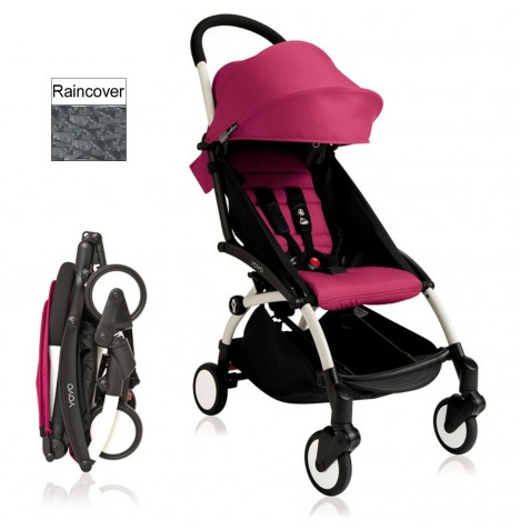 Babyzen YoYo+ Pushchair 6mth+ Package - White / Pink