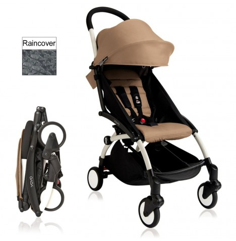 Babyzen YoYo+ Pushchair 6mth+ Package - White / Taupe