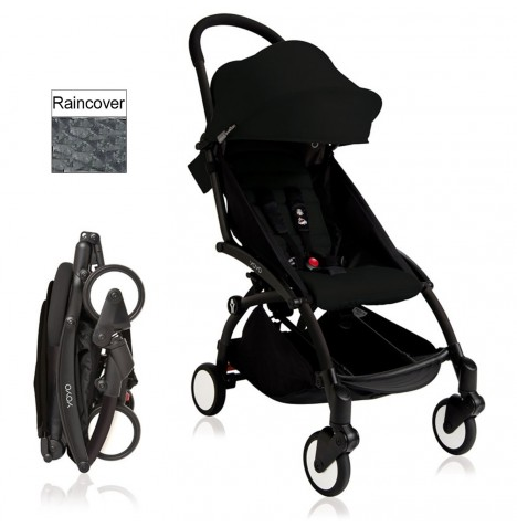 Babyzen YoYo+ Pushchair 6mth+ Package - Black / Black