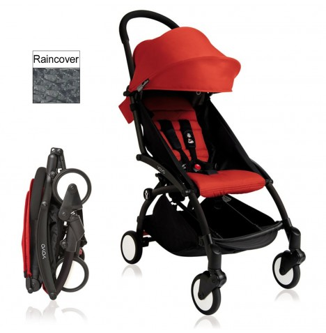Babyzen YoYo+ Pushchair 6mth+ Package - Black / Red