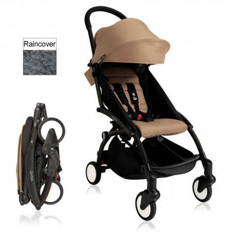 Babyzen YoYo+ Pushchair 6mth+ Package - Black / Taupe