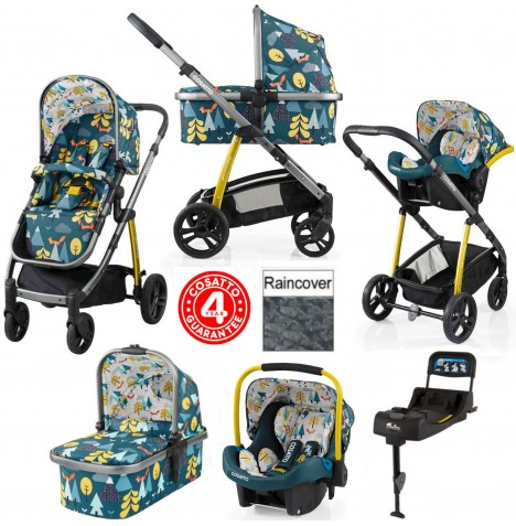 Cosatto Wow 3 in 1 Combi Travel System With Isofix Base - Fox Tale