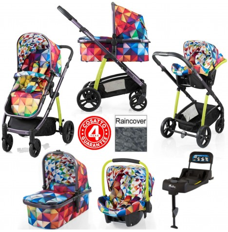 Cosatto Wow 3 in 1 Combi Travel System With Isofix Base - Spectroluxe