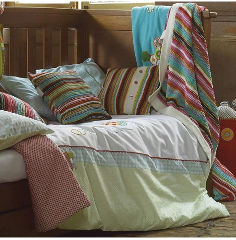 Mamas & Papas Cot / Cot Bed / Toddler Bed Quilt & Pillowcase Set - Gingerbread