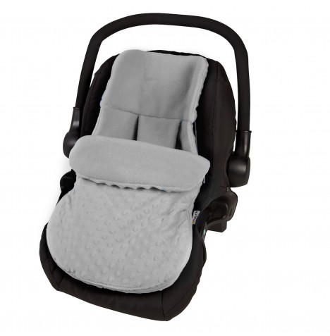 4Baby Deluxe Car Seat Soft Footmuff - Dimple Grey