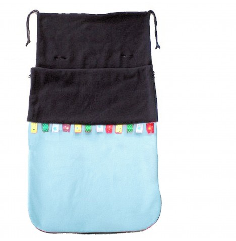 Cuddles Collection Taggies Fleece Footmuff - Blue