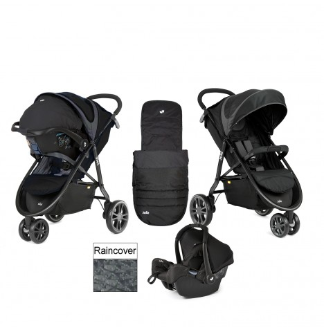Joie Litetrax 3 Wheel Travel System - Midnight..
