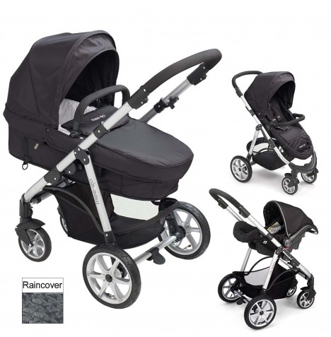 Mee-Go Pramette 2in1 Travel System - Black