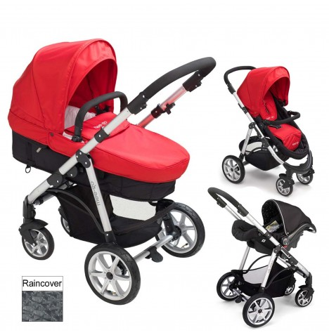 Mee-Go Pramette 2in1 Travel System - Red