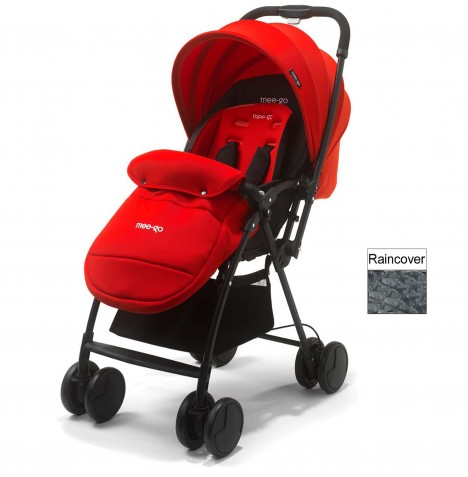 Mee-Go Feather Pushchair Stroller - Red