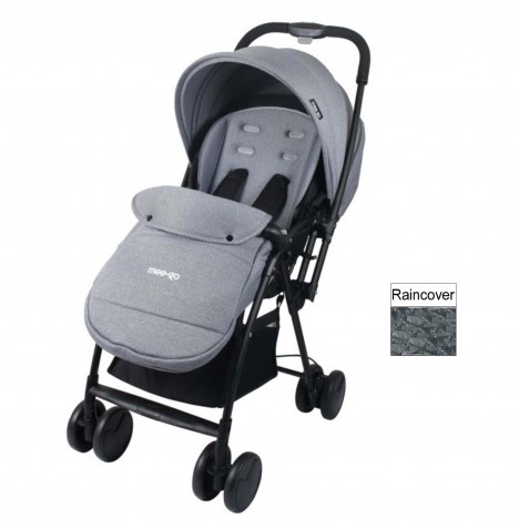 Mee-Go Feather Pushchair Stroller - Grey