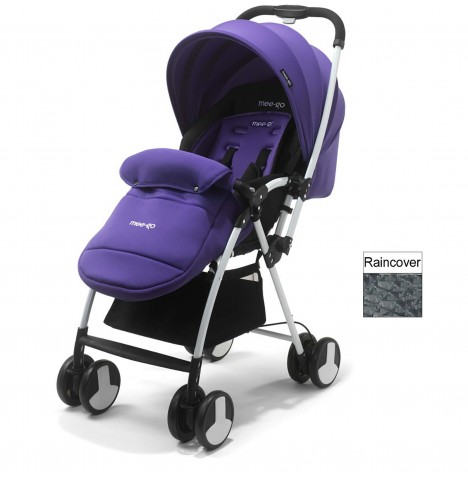 Mee-Go Feather Pushchair Stroller - Purple