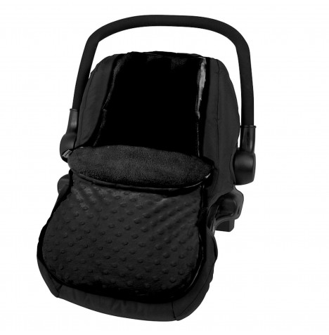 4Baby Deluxe Car Seat Soft Footmuff - Dimple Black..